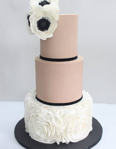 Camellia Flower Engagement Cake - #20