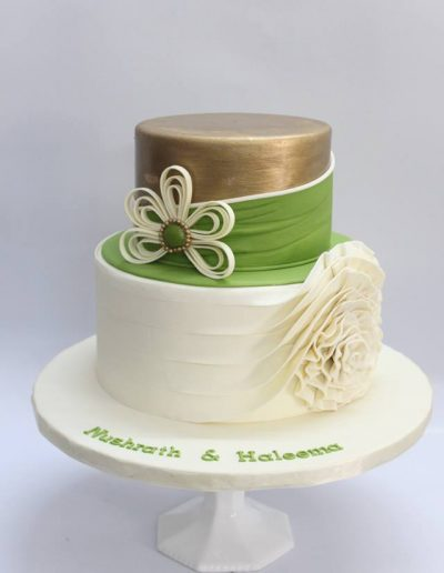 Fabric Inspired Engagement Cake - #23