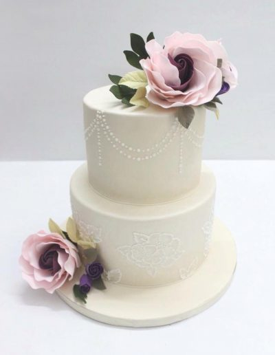 Fancy Rose Engagement Cake - #25