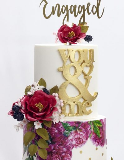 Fuschia Wedding Cake - #36
