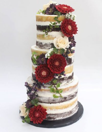 Naked Floral Engagement Cake - #29